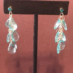 Light blue dangle earrings  2/$10 Sale